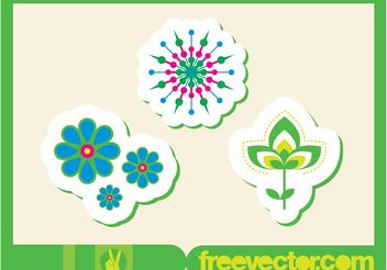 Flowers Stickers - бесплатный vector #153313