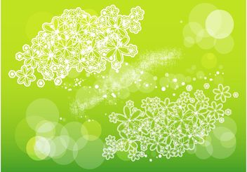 Flowers And Scribbles - Free vector #153333