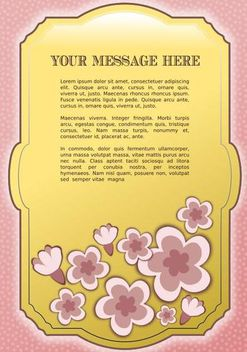 A Vector Frame with Flowers - Free vector #153373