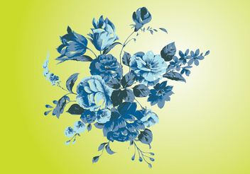 Antique Flowers Vector Art - Free vector #153393