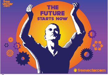 Future Technology Poster - vector gratuit #153613