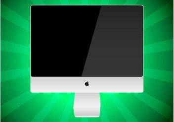 iMac Vector Graphic - vector gratuit #153743