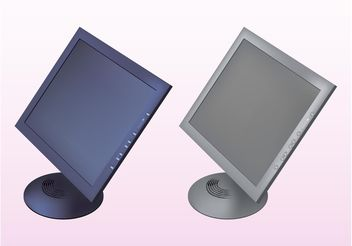 Monitors - vector #153773 gratis
