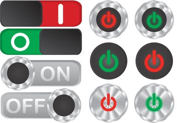 On Off Button Vectors - vector gratuit #153853