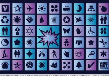 Blue Vector Icons - Free vector #153903