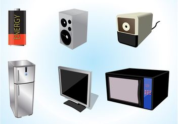 Electrical Appliances - vector #153943 gratis