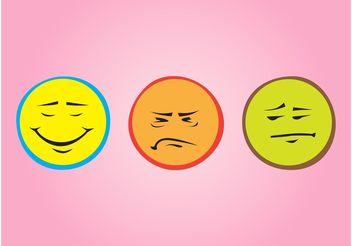 Colorful Emoticons - vector gratuit #153973