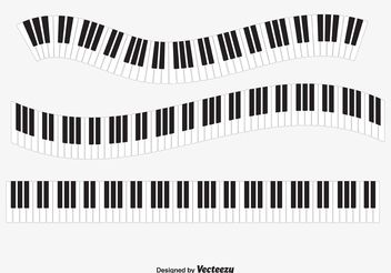 `Piano Keys Vector - Free vector #154013