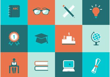 Free Education Vector Icons - vector gratuit #154023