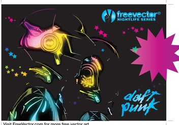 Daft Punk Graphics - бесплатный vector #154063