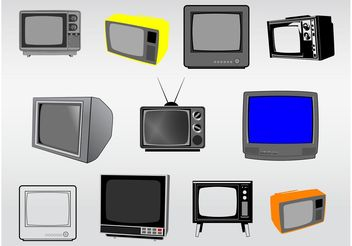 Television Illustrations - vector gratuit #154233