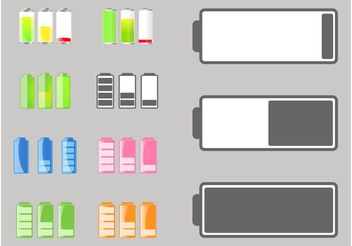 Battery Life Icons - Free vector #154323
