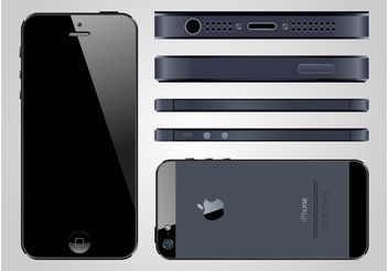 iPhone 5 Vector - vector gratuit #154363