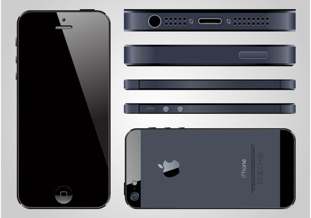 iPhone 5 Vector - Free vector #154363