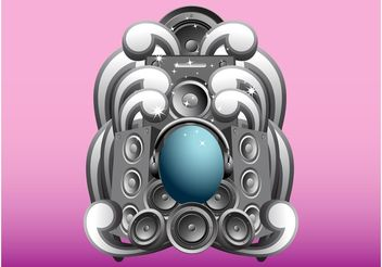 Speakers Design - vector gratuit #154373