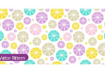 Colorful Retro Pattern Vector - vector gratuit #154453