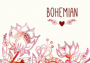 Free Bohemian Flourish Vector Illustration - Free vector #154513