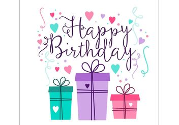 Birthday Card Design - vector gratuit #154613