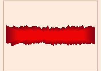 Red Abstract Label - Kostenloses vector #154693