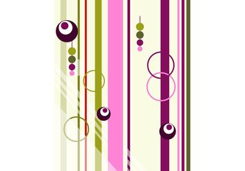 Abstract Greeting Card - vector gratuit #154753
