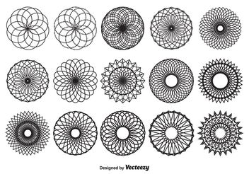 Spirograph Vector Shapes - Free vector #154783