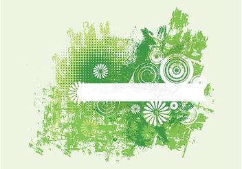 Green Grunge Flowers - vector gratuit #154833