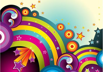 Colorful Background With Stars - vector gratuit #154973