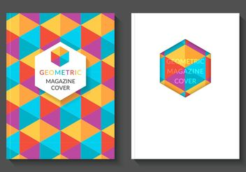 Free Colorful Geometric Magazine Vector Covers - vector gratuit #155103