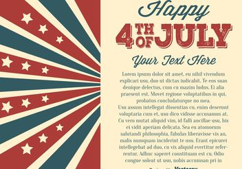 Independence Day Illustration - Free vector #155113