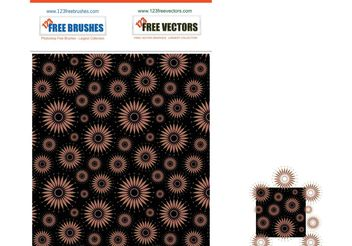 Seamless Flower Pattern - vector gratuit #155153