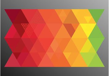 Colorful Triangles - vector gratuit #155233