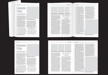 Minimal Magazine Layout - vector gratuit #155323