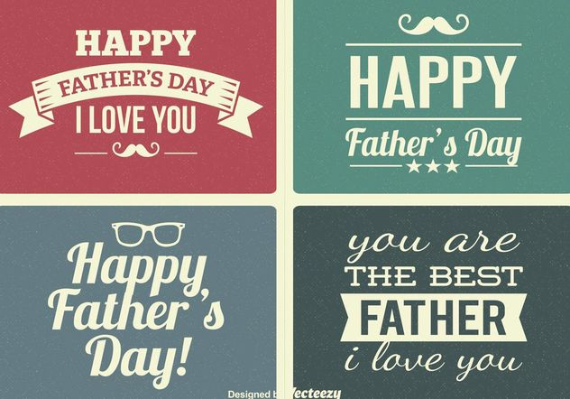 Vintage Father's Day Labels - Free vector #155343