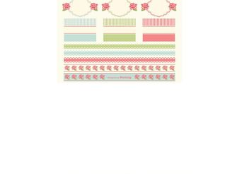 Shabby Chic Design Elements - Free vector #155373