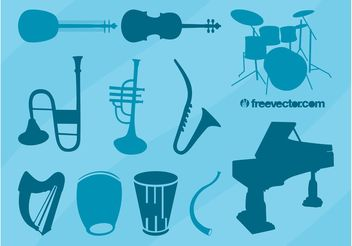 Musical Instruments Vector Collection - бесплатный vector #155433