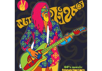 Sixties Music Vector - Free vector #155443