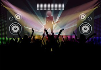Dance Party Vector - Free vector #155533