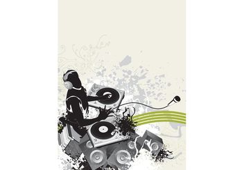 DJ Party Poster - vector #155563 gratis