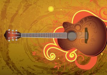 Download Guitar Vector - Kostenloses vector #155573
