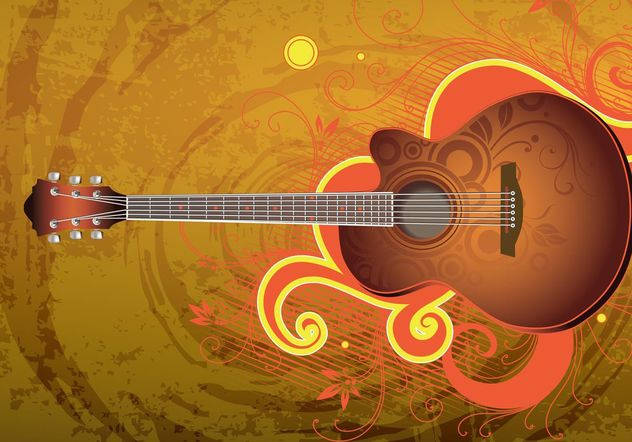 Download Guitar Vektor - Kostenloses vector #155573