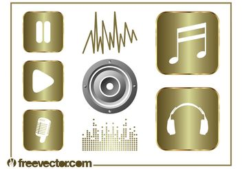 Music And Sound Graphics Set - Free vector #155643