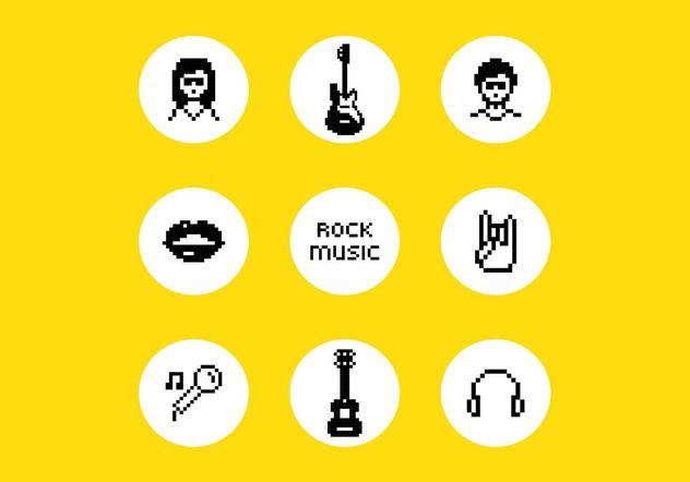 Free Vector Pixel Rock Music Symbols Free Vector Download 155653
