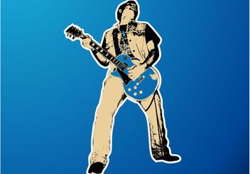 Guitar Player Vector - Free vector #155703