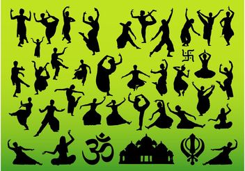 Indian Dance Designs - бесплатный vector #155713