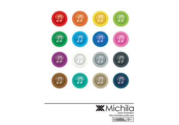 Music Button Vector - vector gratuit #155733