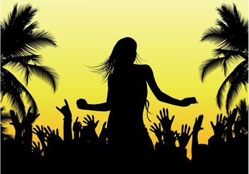 Beach Dance Vector - Free vector #155783