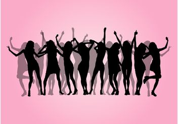 Party Girls Design - vector gratuit #155803