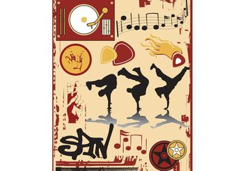 Breakdance - Free vector #155833