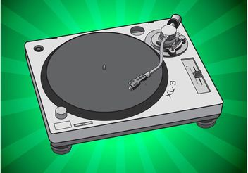 Simple Turntable Vector - Kostenloses vector #155933