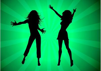 Party Girls Silhouettes - vector gratuit #155983